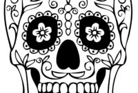 Sugar Skull Drawing Template At Paintingvalley | Explore throughout Blank Sugar Skull Template