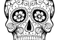 Sugar Skull Drawing Template | Free Download Best Sugar in Blank Sugar Skull Template