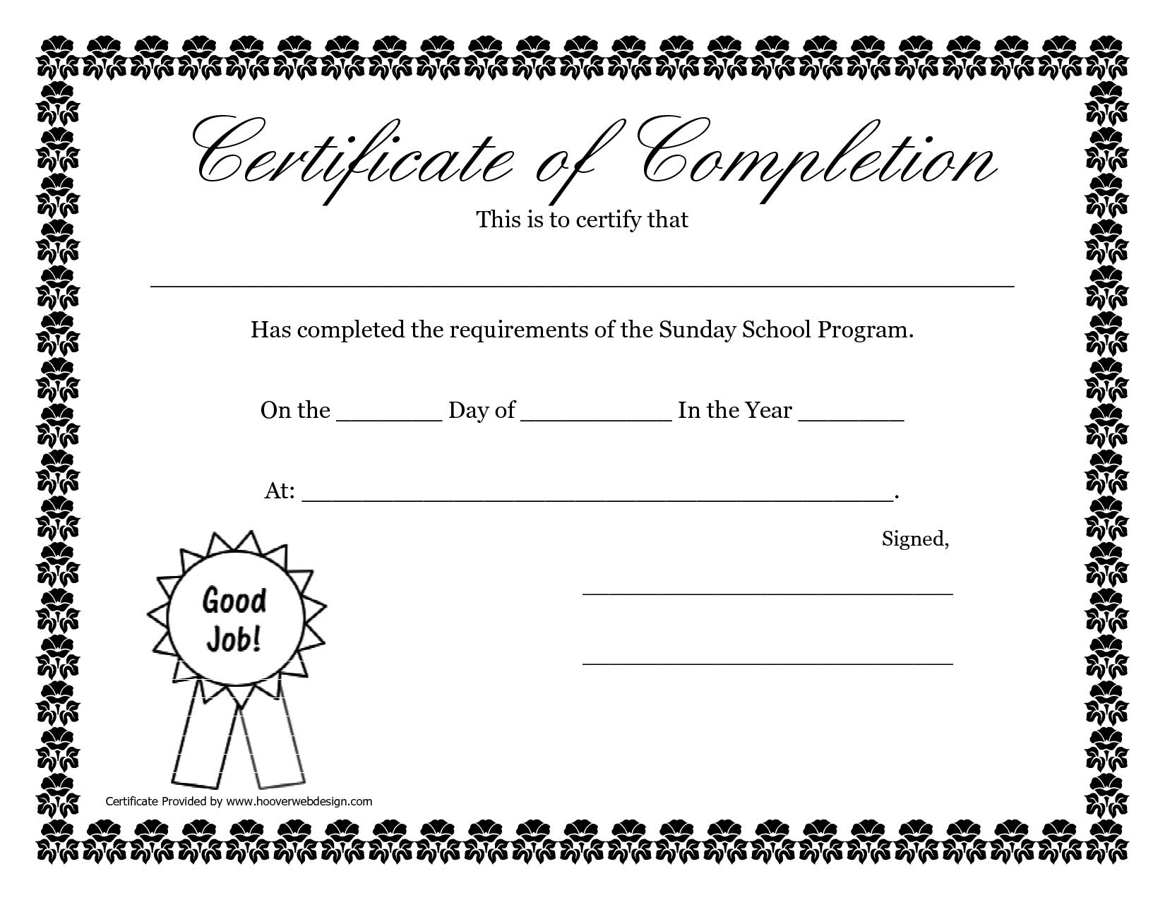 Sunday School Promotion Day Certificates | Sunday School In Promotion Certificate Template