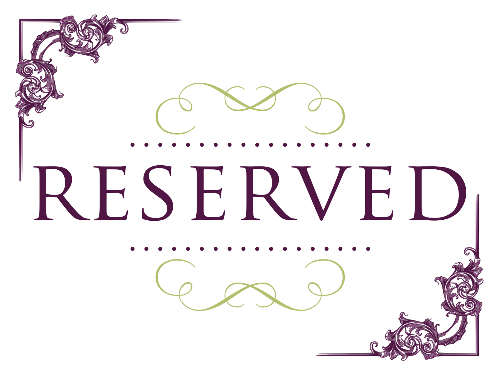 Superb Reserved Signs For Tables | Reserved Wedding Signs In Reserved Cards For Tables Templates