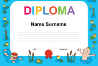 Swimming Award Certificate Template intended for Free Swimming Certificate Templates