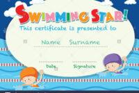 Swimming Certificate Stock Photos & Swimming Certificate regarding Free Swimming Certificate Templates