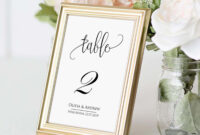 Table Number Card Template, Table Number Cards, Editable, Instant  Download,printable Wedding Table Number, Diy Reception Table Card Swtc114 throughout Table Number Cards Template