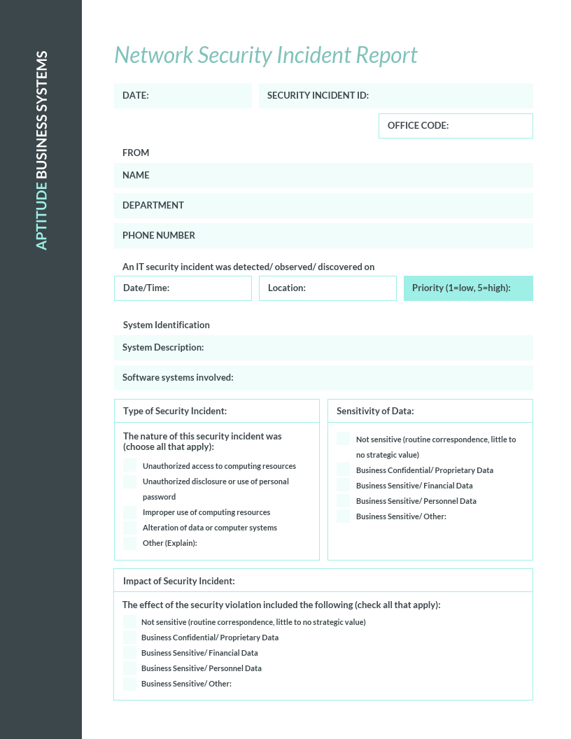 Teal It Incident Report Template Template – Venngage Regarding It Incident Report Template