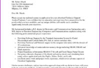Technical Report Template Letter Sample within Technical Support Report Template