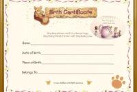 Teddy Bear Birth Certificate   Teddy Bear Tea   Birth for Baby Doll Birth Certificate Template