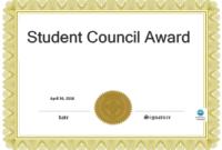 Télécharger Gratuit Student Council Award inside Free Student Certificate Templates