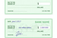 Template Blank Bank Check intended for Blank Business Check Template