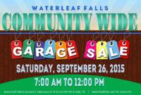Template: Community Garage Sale Falls Flyer Template pertaining to Yard Sale Flyer Template Word