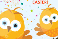 Template Easter Greeting Card, Chick, Vector Stock Vector within Easter Chick Card Template