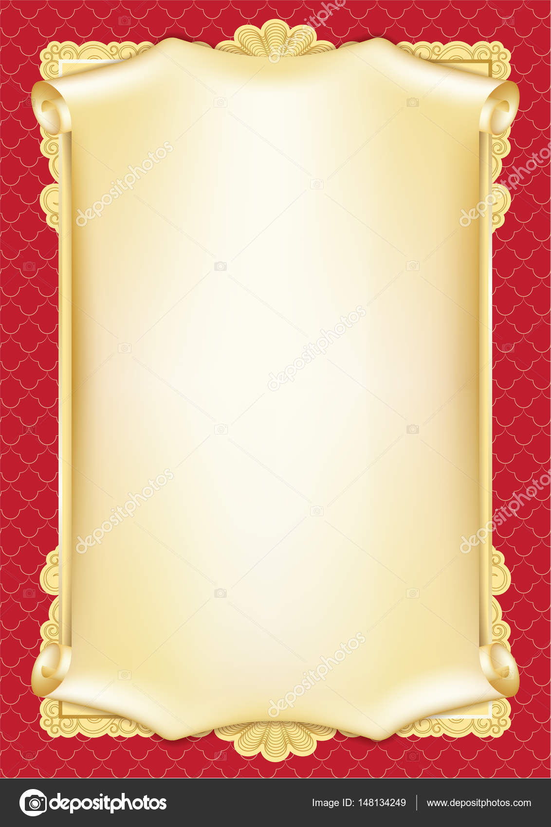 Template For Diploma, Certificate, Card With Scroll And Throughout Certificate Scroll Template
