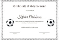 Template: Free Stock Certificate Templates Word Template regarding Soccer Certificate Templates For Word