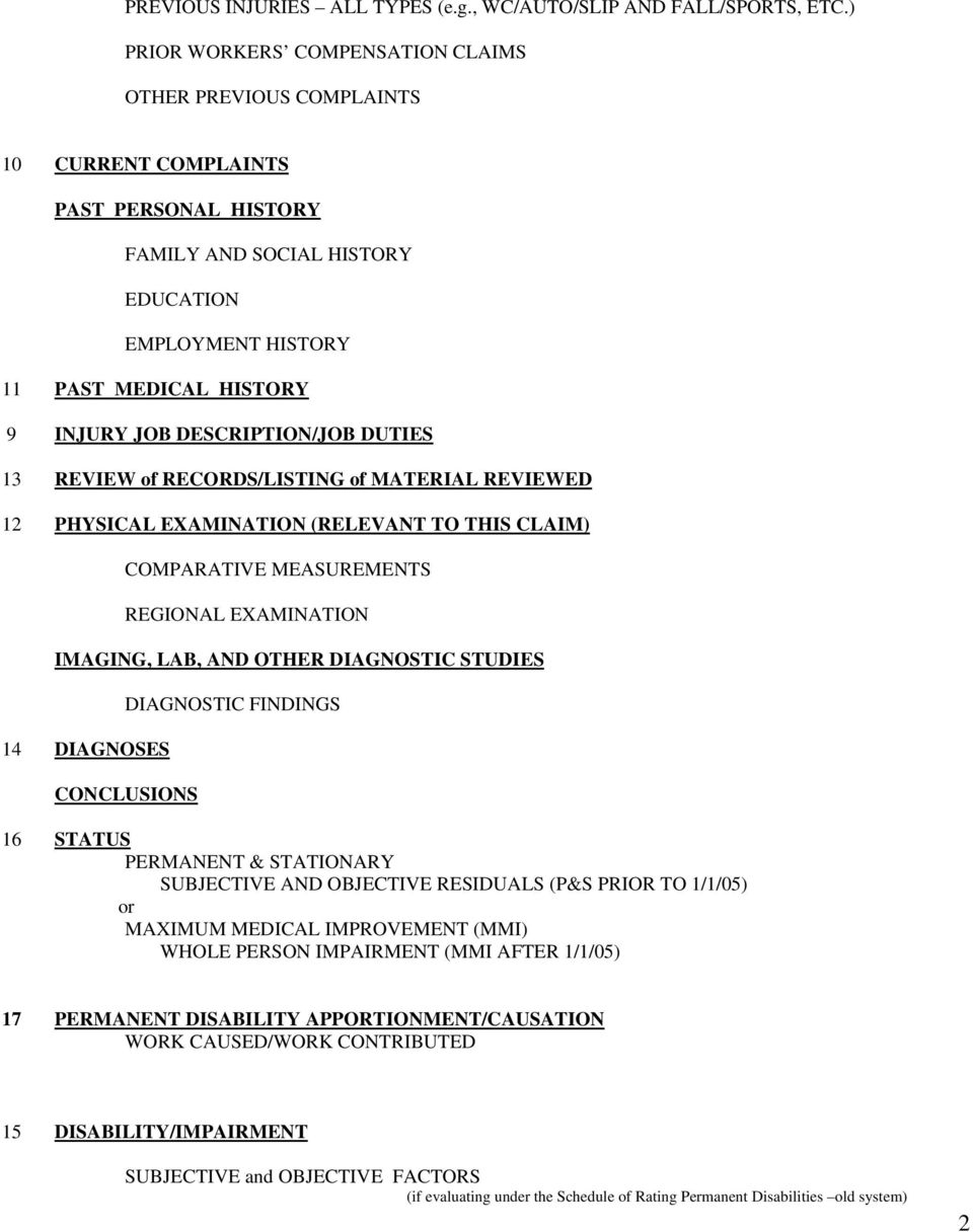 Template Medical Legal Report  Workers Compensation - Pdf Intended For Medical Legal Report Template