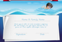 Template Of Certificate For Swimming Award pertaining to Free Swimming Certificate Templates