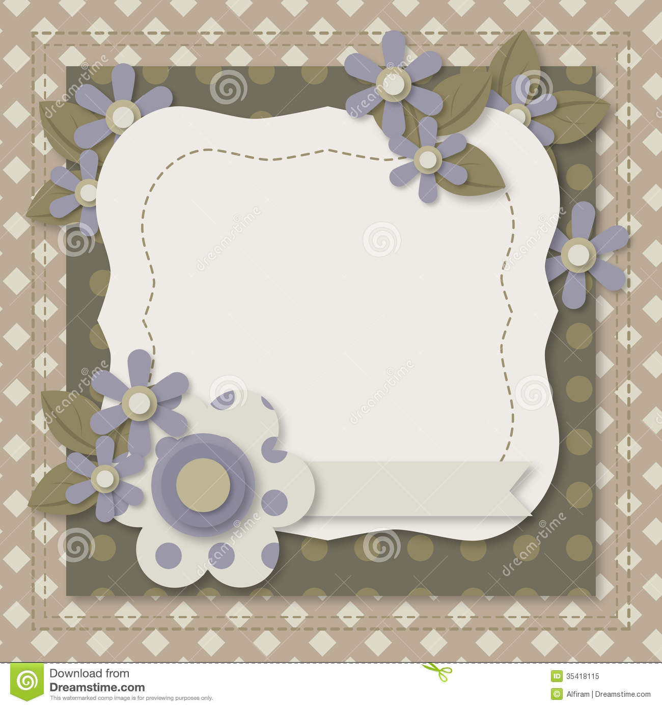 Template Of Greeting Card Or Album Page Stock Vector Pertaining To Greeting Card Layout Templates