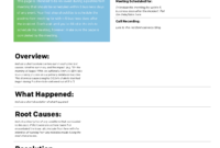 Template – Pagerduty Postmortem Documentation within Post Mortem Template Powerpoint
