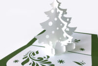 Template Pop-Up Card «Christmas Tree» regarding 3D Christmas Tree Card Template