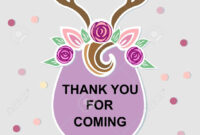 Template With Deer Headband For Party Invitation, Baby Shower,.. regarding Headband Card Template
