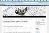Ten Business Card Template For Gimp: Full Tutorial in Gimp Business Card Template