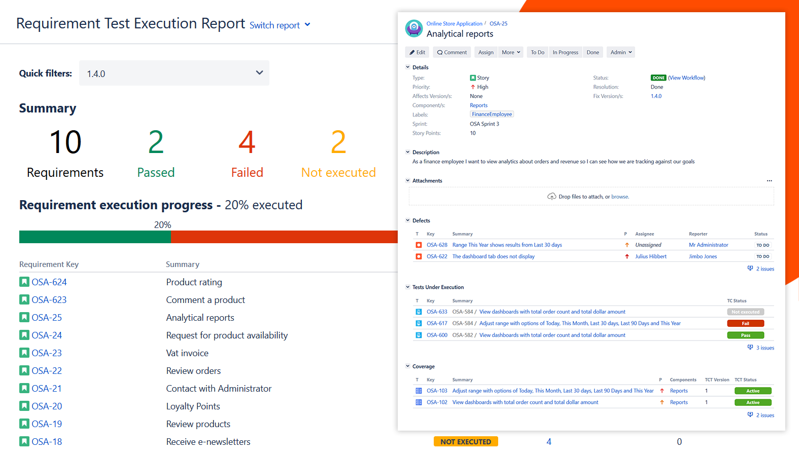 Testflo – Test Management For Jira | Atlassian Marketplace Throughout Test Case Execution Report Template