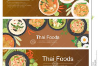 Thai Food Banner Template Stock Vector. Illustration Of within Food Banner Template