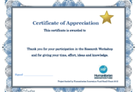 Thank You Certificate Template | Certificate Templates intended for Certificate Of Participation Template Pdf