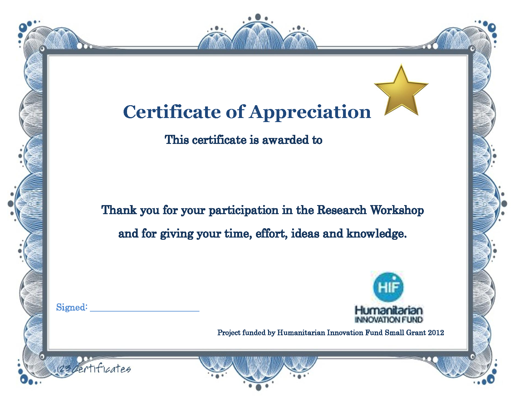 Thank You Certificate Template   Certificate Templates With Regard To Certificate Of Participation In Workshop Template