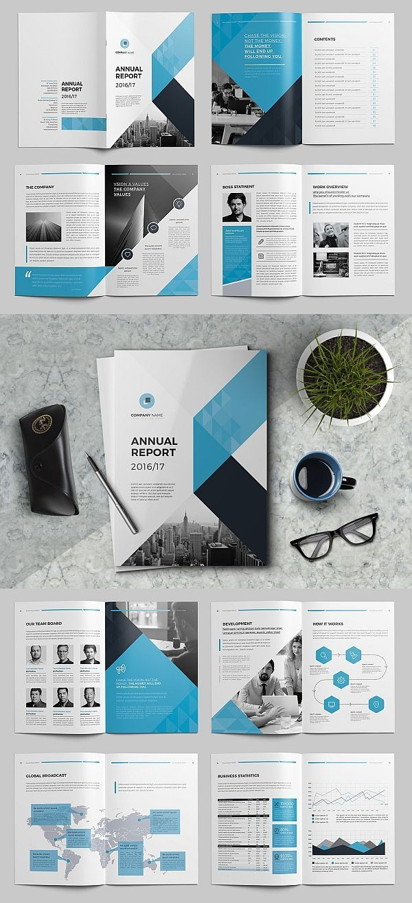 The Annual Report Template #brochure #template #indesign Within Annual Report Template Word Free Download
