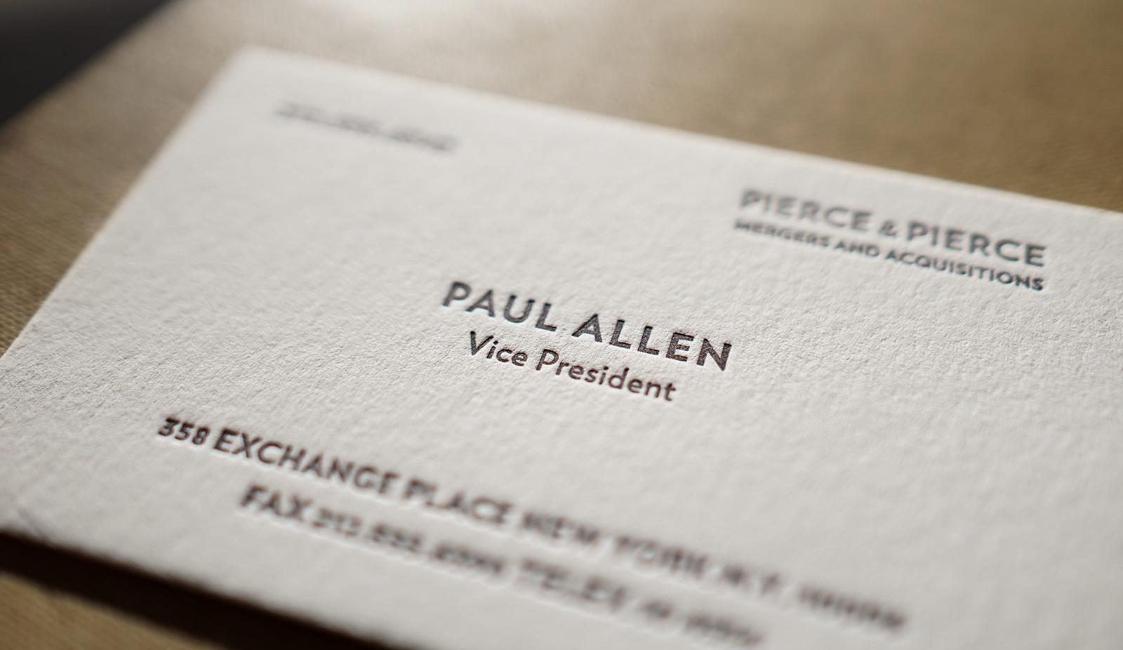 The Better Paul Allen Calling Card   Literature   Business In Paul Allen Business Card Template