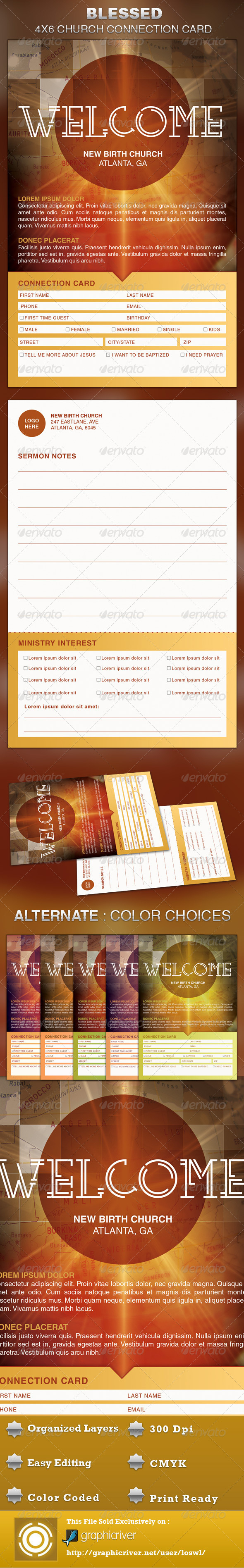 The Blessed Church Connection Card Template Is Great For Any With Decision Card Template