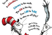 The Cat In The Hat Birthday Invitation. Printable throughout Dr Seuss Birthday Card Template