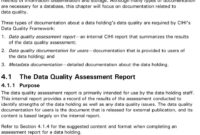 The Cihi Data Quality Framework – Pdf within Data Quality Assessment Report Template