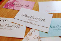 The Definitive Guide To Wedding Place Cards | Place Card Me throughout Michaels Place Card Template
