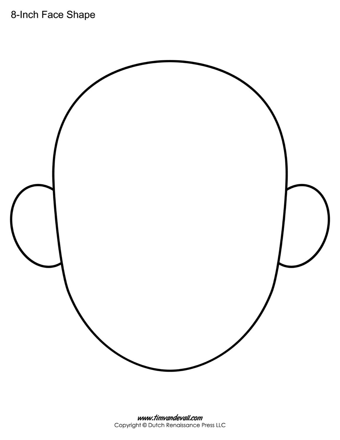 The Following Blank Face Templates Can Be Use For A Variety Intended For Blank Face Template Preschool