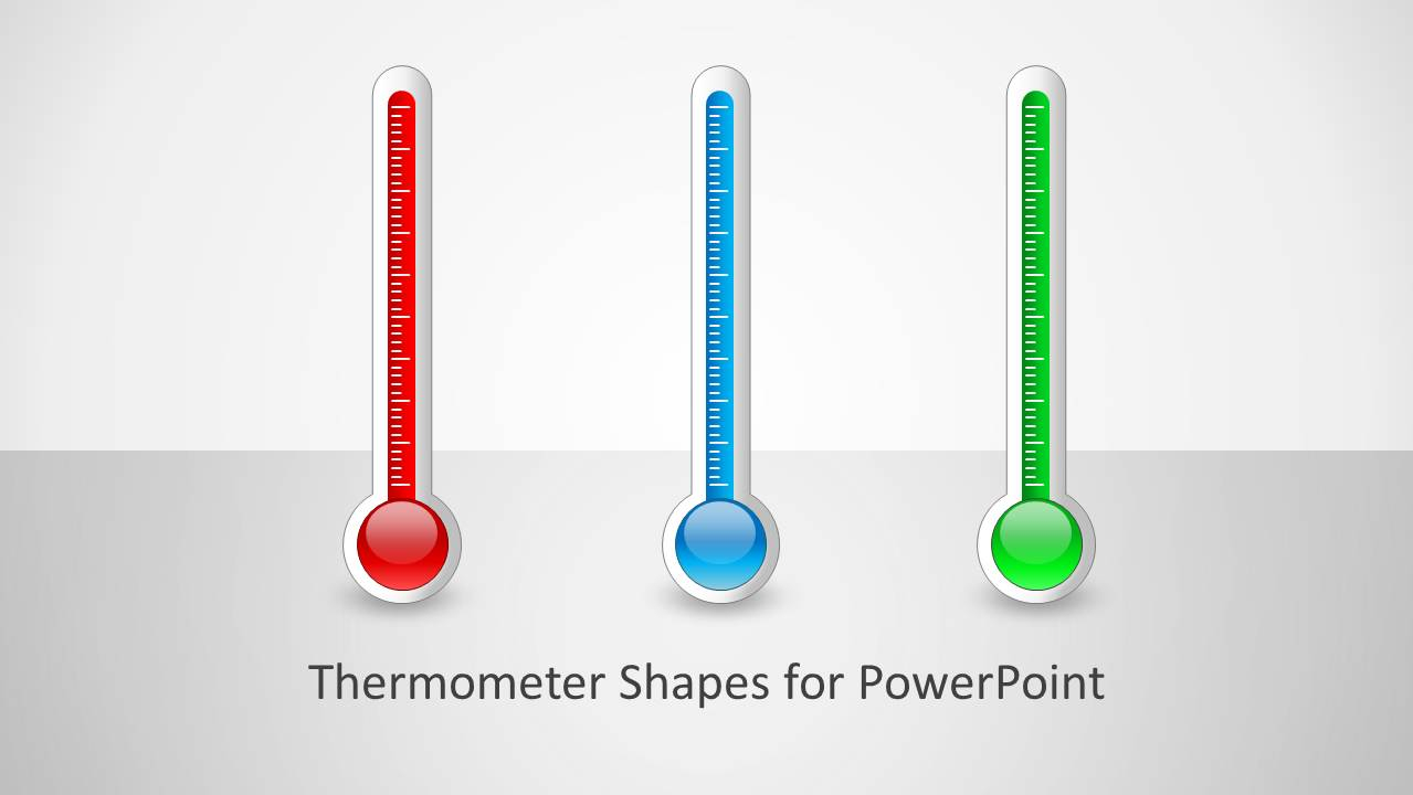 Thermometer Shapes For Powerpoint For Powerpoint Thermometer Template