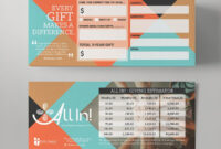 This Vintage-Modern Card Concept Was One Of Many within Pledge Card Template For Church
