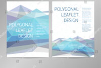 Threecolumn Doublesided Vector Leaflet Brochure Cover Stock with One Sided Brochure Template