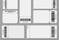 Ticket Templates Blank Admit One Festival Concert Vector Image in Blank Admission Ticket Template