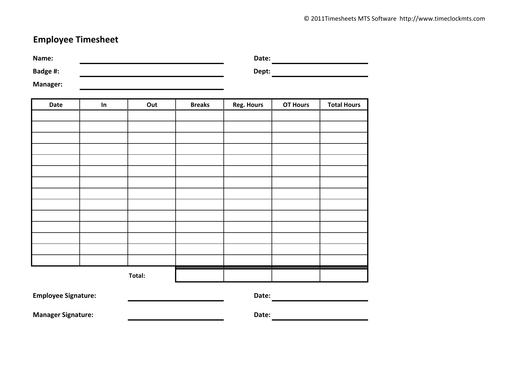 Time Sheet Forms – Corto.foreversammi Within Weekly Time Card Template Free
