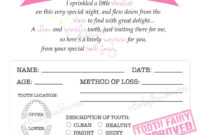 Tooth Fairy Certificate – Pink – Instant Download with Tooth Fairy Certificate Template Free