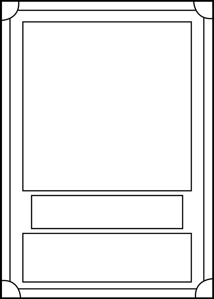 Trading Card Template Frontblackcarrot1129 On Deviantart Inside Card Game Template Maker