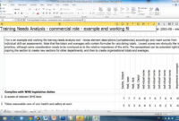 Training Needs Analysis Intended For Training Needs Analysis Report Template