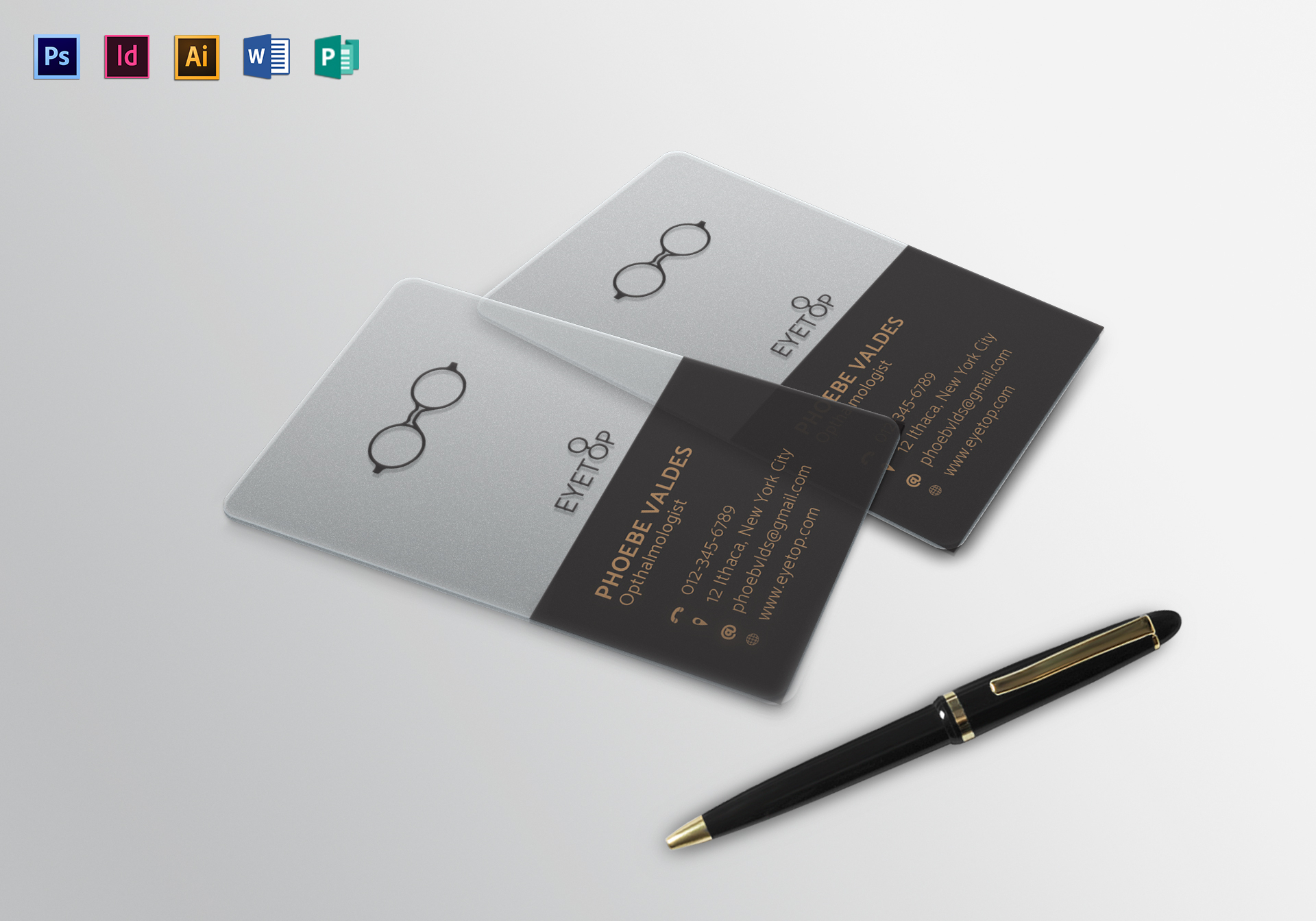 Transparent Business Card Template Within Transparent Business Cards Template
