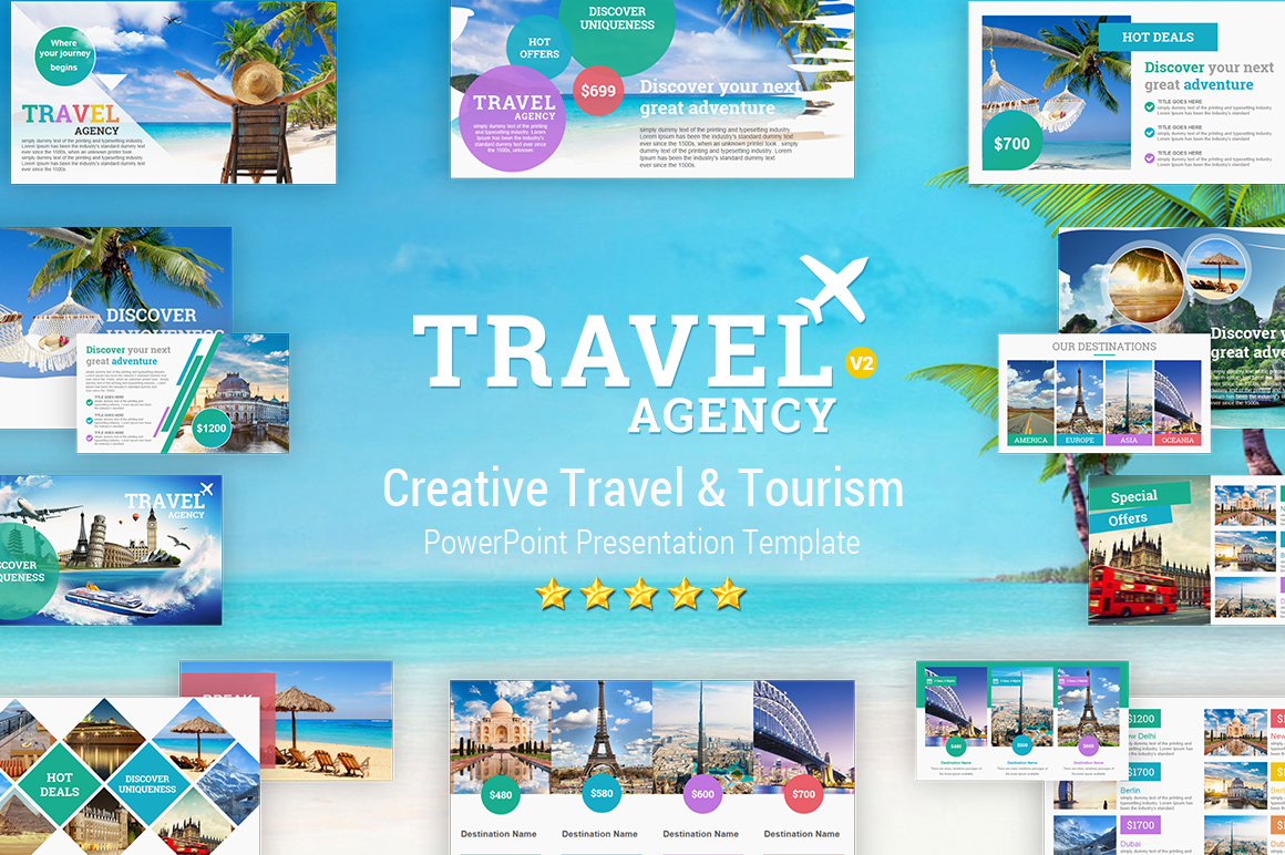 Travel And Tourism Powerpoint Presentation Template - Yekpix In Powerpoint Templates Tourism