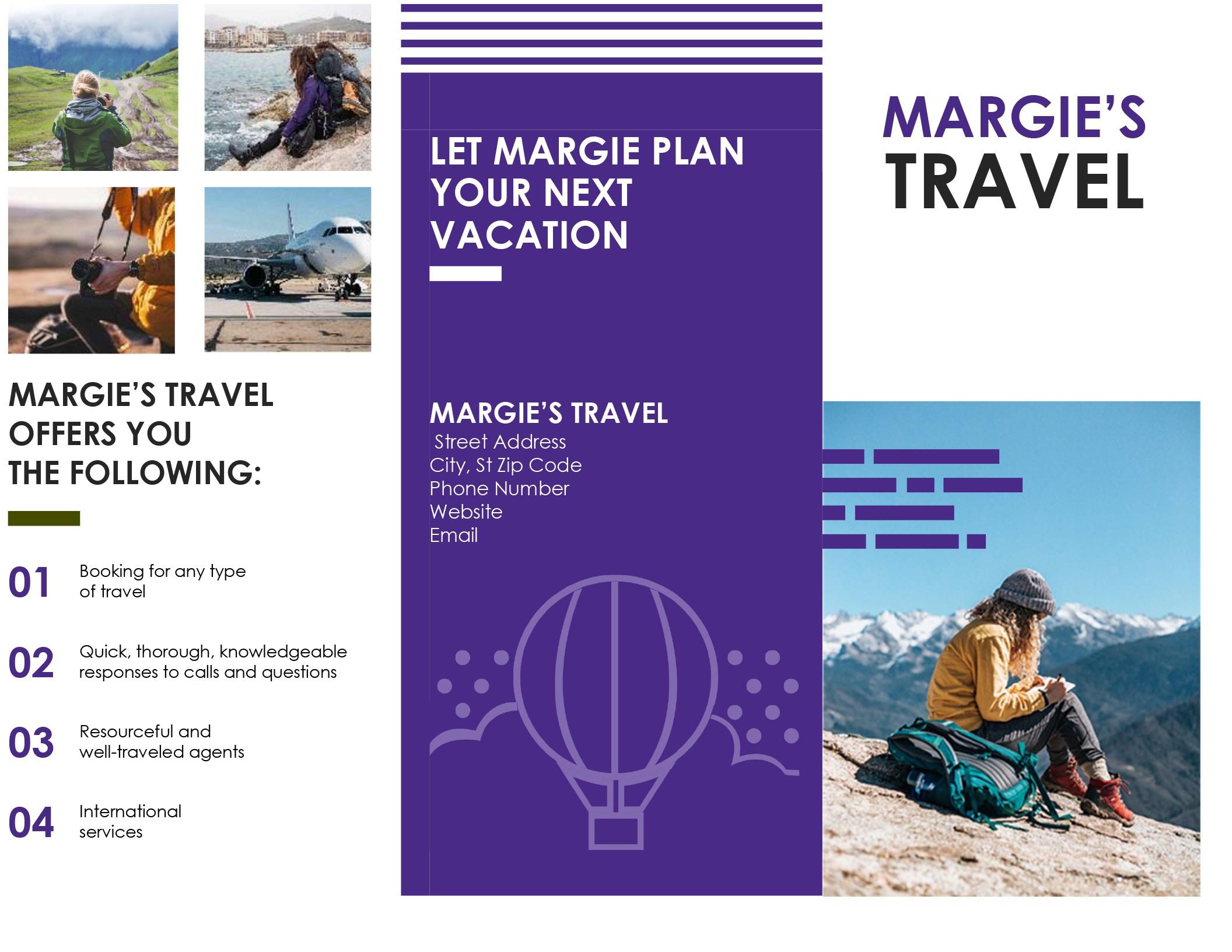 Travel Brochure Regarding Word Travel Brochure Template In Word Travel Brochure Template