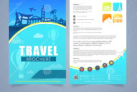 Travel Brochure, Template Or Flyer Design. Stock inside Travel And Tourism Brochure Templates Free