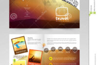 Travel Brochure, Template Or Flyer Design. Stock throughout Travel And Tourism Brochure Templates Free