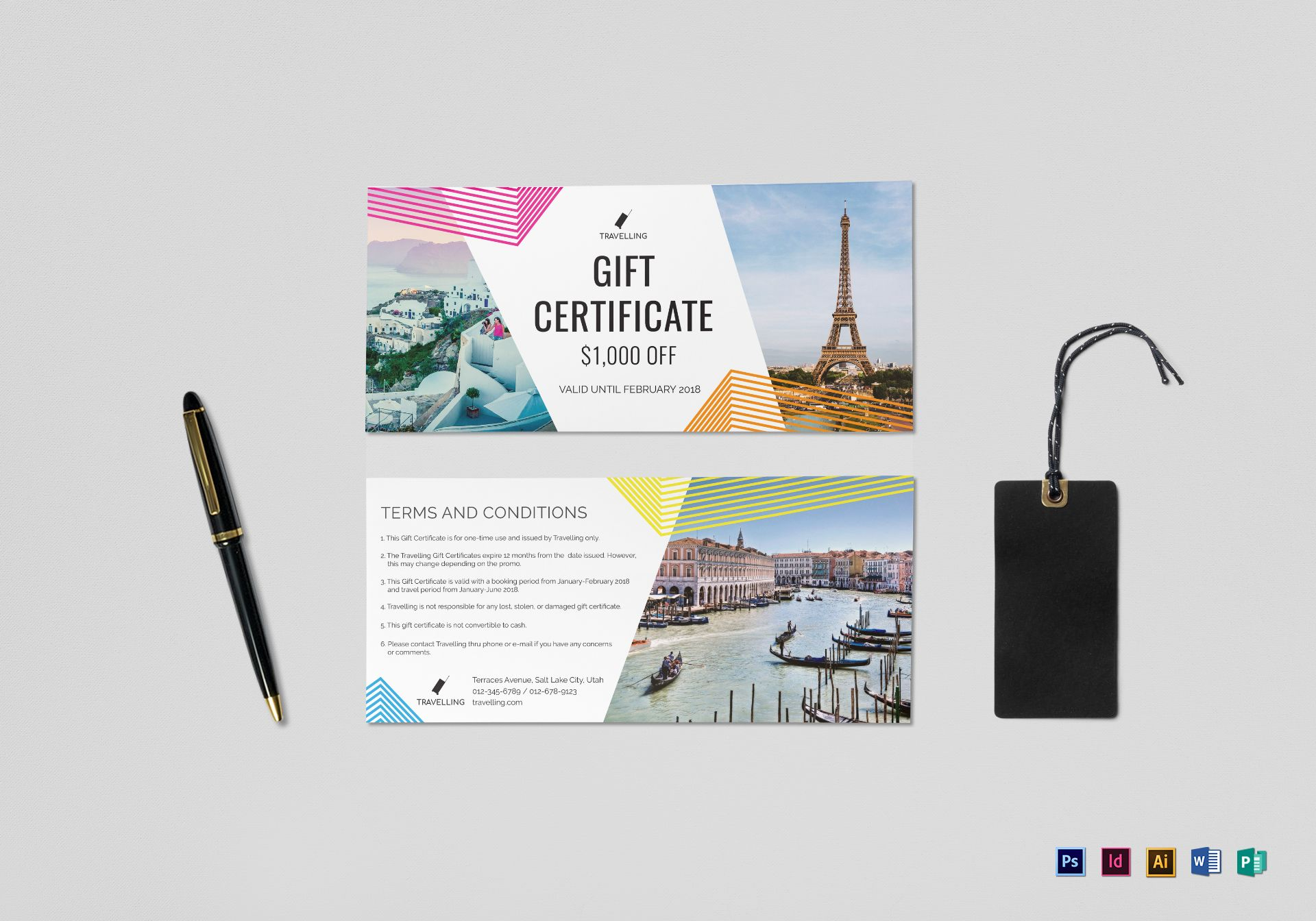 Travel Gift Certificate Template With Gift Certificate Template Publisher