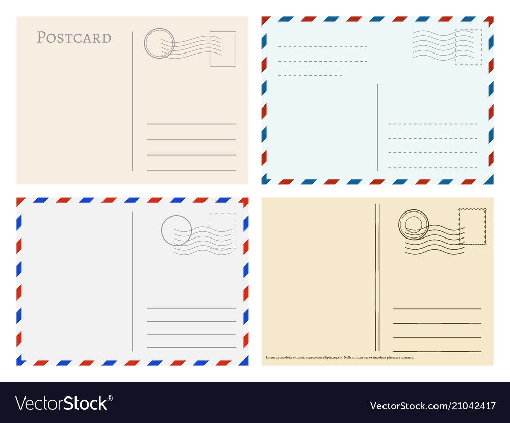 Travel Postcard Templates Greetings Post Cards With Post Cards Template