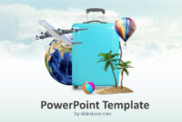 Travel Template Powerpoint Borders Itinerary World Concept inside Tourism Powerpoint Template
